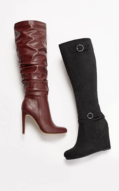 Knee High Boots in High Heel & Flat Styles
